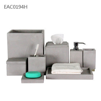 Wholesale handmade concrete bathroom accessories names hotel cement bathroom  accessories. Wholesale handmade concrete bathroom accessories names hotel