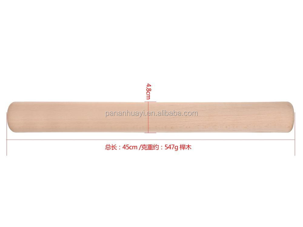 HUAYI 17.7 inches long x1.8 inch thick Longer Beech wood Rolling Pin