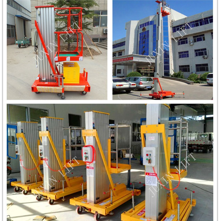 Hotel indoor used aerial work platform/10m light weight aluminium alloy ladder