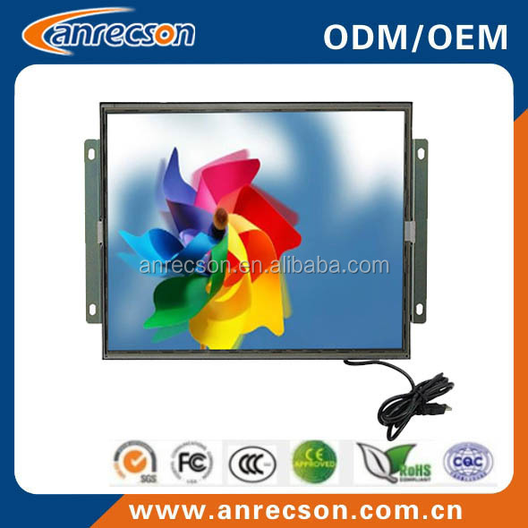 resolution 800x480 7 inch open frame usb touchscreen lcd monitor