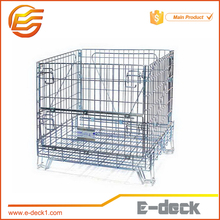 Folding shipping container wire mesh warehouse cage