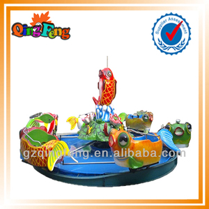 12 seats jumping fish HR-QF052 popular hottest metal carousel musical