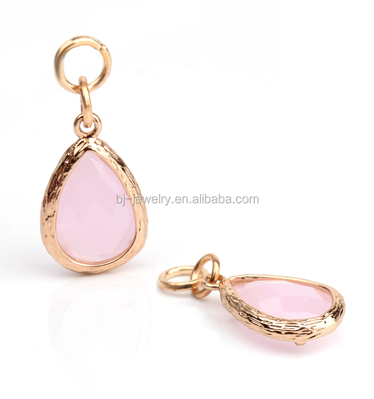 Fashion Hot Sell Natural Stone Water Drop Pendant Jewelry Making Charm Handmade Accessory
