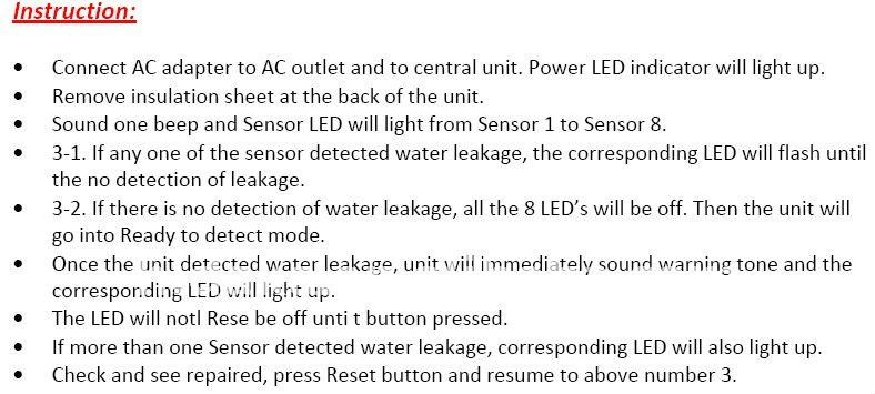 Water Leak Detection Controller System With Auto Shut Off