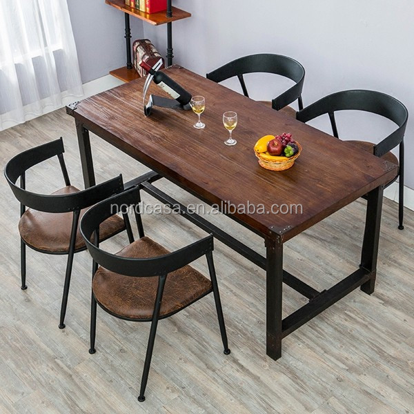 French Antique Outdoor Wooden Dining Table Vintage Metal Legs Wood Restaurant Table Buy Vintage Industry Furniture French Vintage Industrial Furniture Recliamed Wood Industry Furniture Product On Alibaba Com
