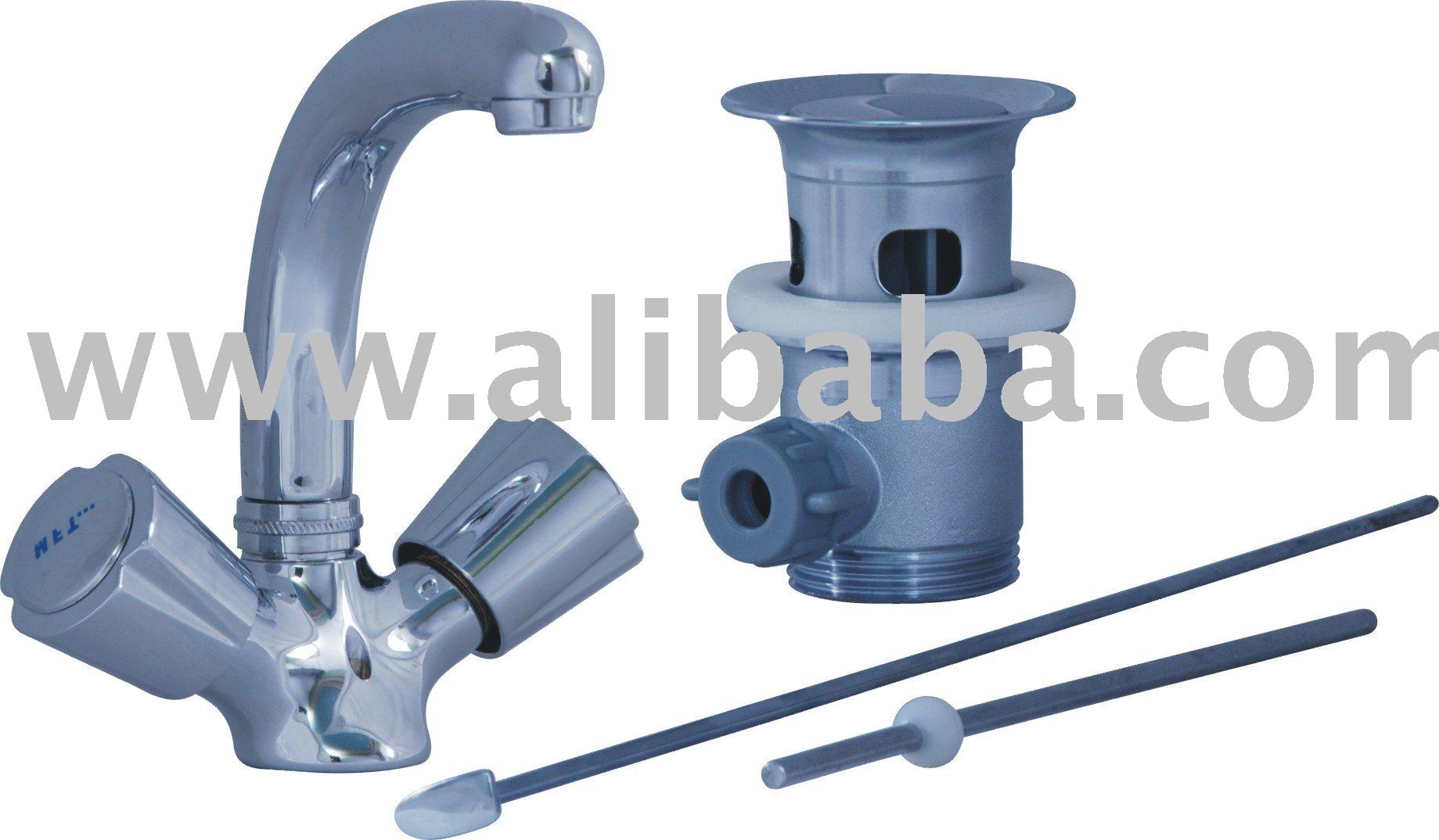 ONE HOLE WASH BASIN MIXER COM WITH POP-UP WASTE