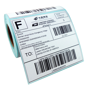 Zebra Compatible Label 1,000 pcs ( 4 Rolls ) Direct Thermal Labels - 150mm x 100mm Permanent - For GK420D