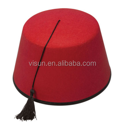 a1683fb0712b2 Adult Turkish Red Fez Hat With Tassel Fancy Dress Accessory - Buy ...