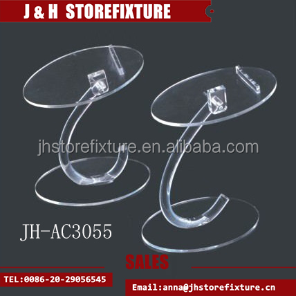 Modern style lucite free standing display for shoes