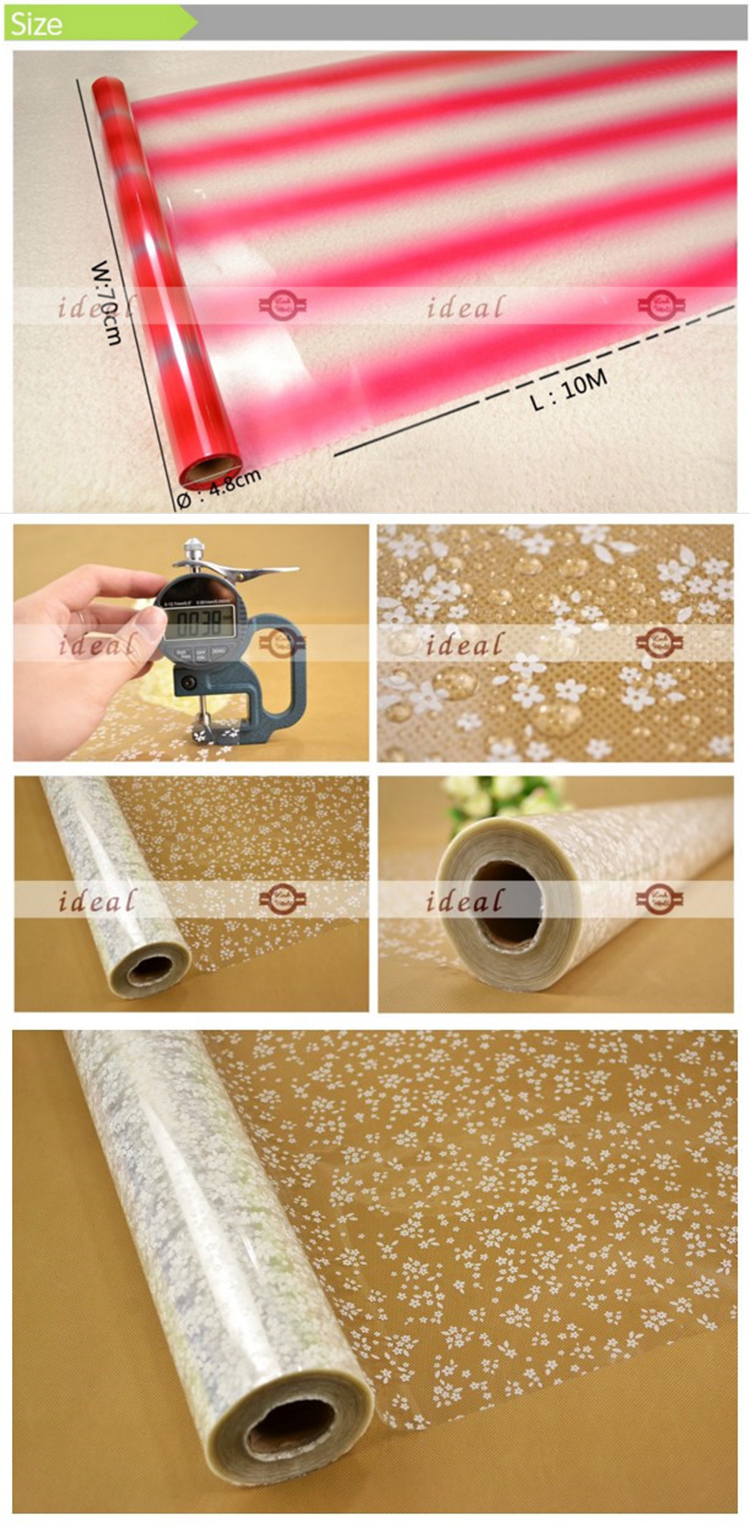 2017 NEW transparent wrapping paper roll