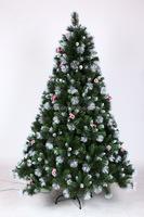 High Quality Artificial Fiber Optic Christmas Tree With Pine Needle, Pre-lit Tree