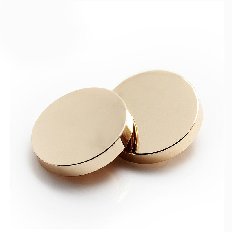 10pcs 25mm Gold color metal button Round shank buttons for garment Sewing buttons for shirt Scrapbooking accessories