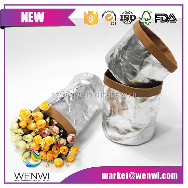 List manufacturers of paper flower pot cover buy paper flower pot 2016 hot sale paper flower pot covers kraft paper bag mightylinksfo