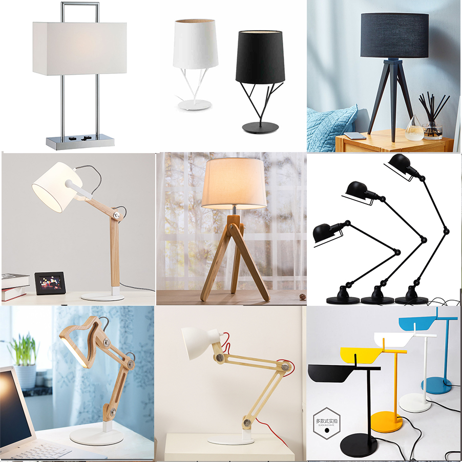 New Design Cement Lamp,Night Light Concrete Table Light,Bedroom Cement Desk Lamp