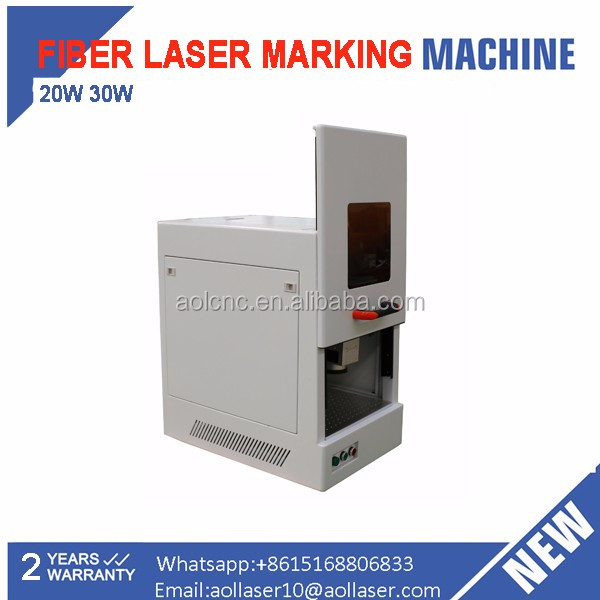 software ezcad 30W 20w fiber laser marking machine for metal
