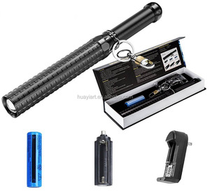hot sell aluminum zoom powerful led baton flashlight self defense flashlight