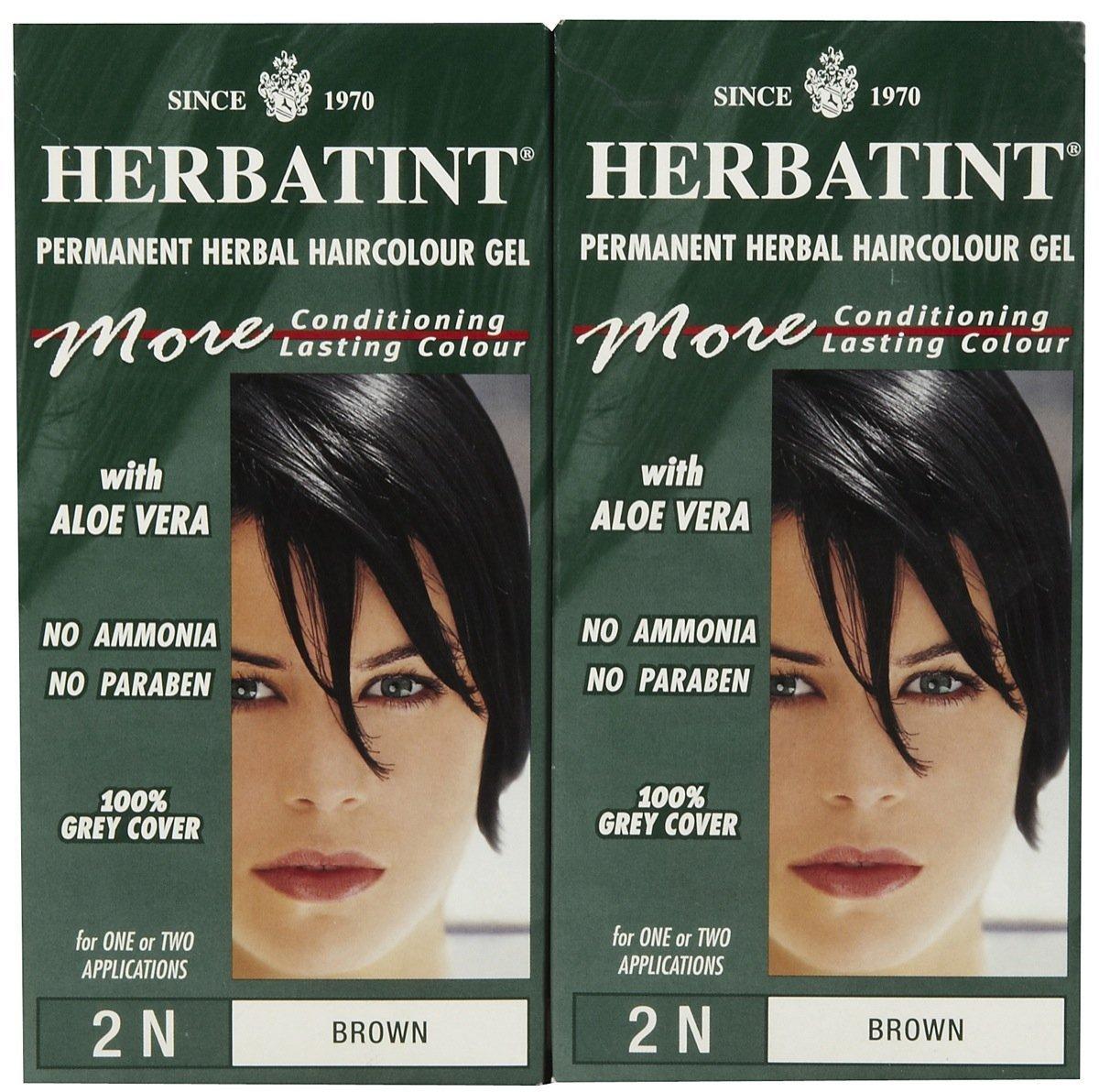 Buy Herbatint Permanent Herbal Hair Color Gel Brown 2n 2 Pk In