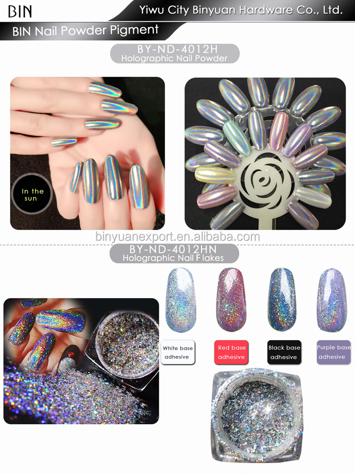BIN Chrome Mirror Magic Rose gold Nail Art Pigment Powder