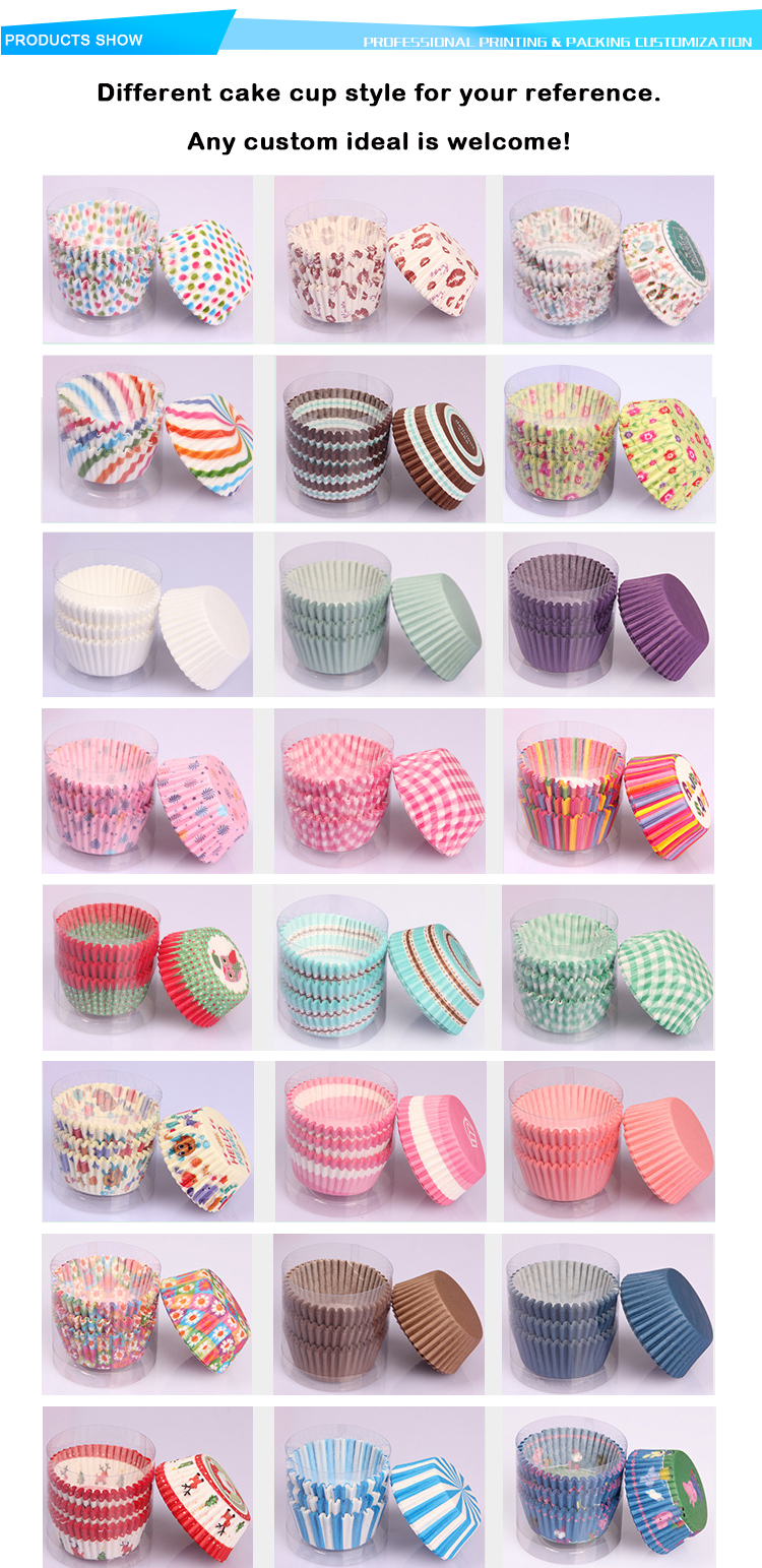 Greaseproof Colorful Striped Cupcake Paper Cups Muffin Cake Baking Cupcake Liners