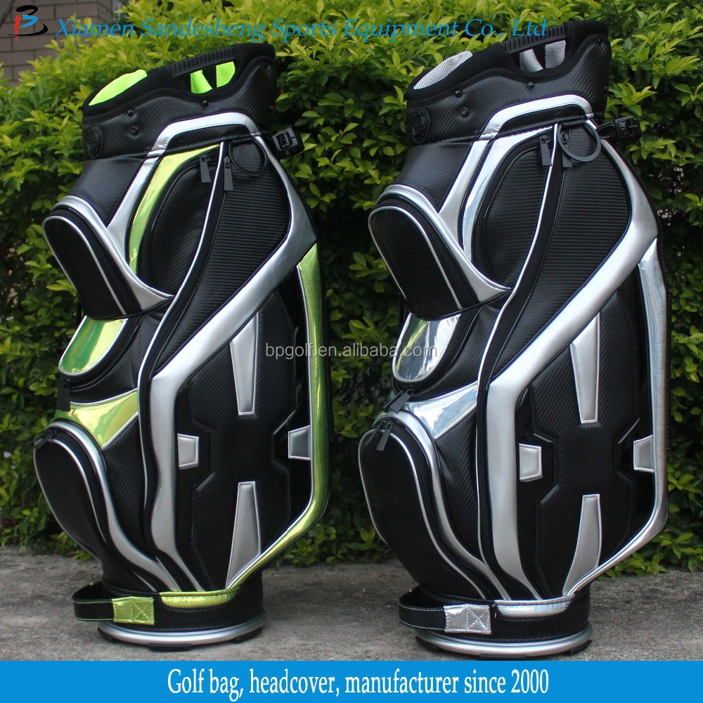 Full Length Divider Leather Golf Bag with 10inch Top
