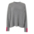 Custom Lady Knitwear cashmere blend Sweater Mujer Color Block O Neck 12 Gauge Pullover Summer color block Sweater women tunic