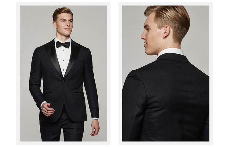 Western Style Men\'s 100% Wool Black Prom Tuxedos Slim Fit - Buy ...
