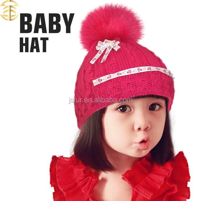 2015 Merinowolle Weihnachten Beanie Hotsale Häkeln Baby Hüte Schöne