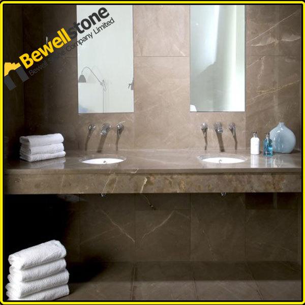 Brown Marble Bathroom Floor : Mm gris pulpis marble flooring brown
