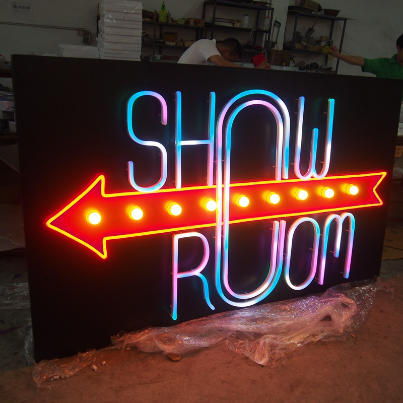 Wholesale led advertising branding tattoo neon sign making