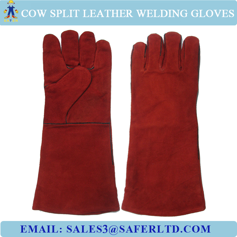 16 Inch Anti-fire Thread Sewing Cow Split Leather Safety Welding ...