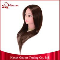 Beauty School Mannequin Heads Plastic Mannequin Head 100% Human Hair Top Quality Wholesale Human Hair