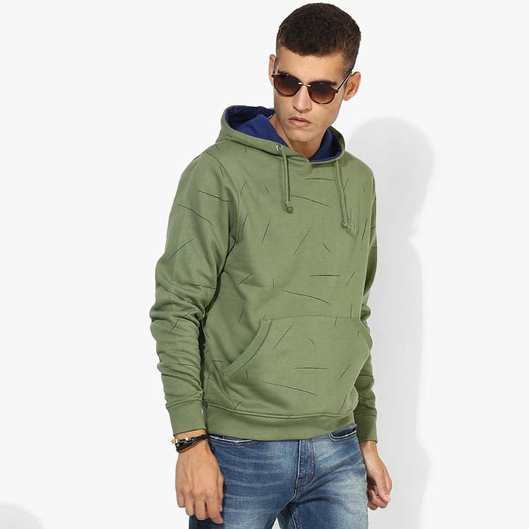 factory price plain pullover men green hoodies manufacturer