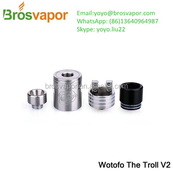 Brosvapor Wholesale New Vaporizer Wotofo Newest RDA Wotofo Troll V2 RDA/Wotofo SERPENT MINI RTA in Stock