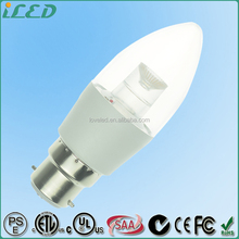 Low Price Daylight Bulbs B22 LED Candle Light 3W Dimmable 240Volt Aluminum Alloy Plastic Epistar 2200K Chip