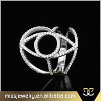 Factory direct wholesale 18k white gold diamond ring with price