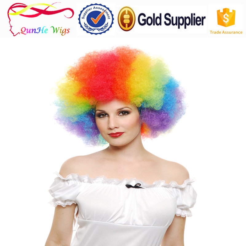 Promotion goods en peruk short football fan synthetic Les cheveux hair wig fake I Capelli