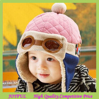 New Pilot Aviator Crochet Earflap Baby Boys Warm Winter Hat Knitted Hat