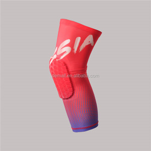 Customized World Cup Digital Printing Professional Sports Knee Pads Protector