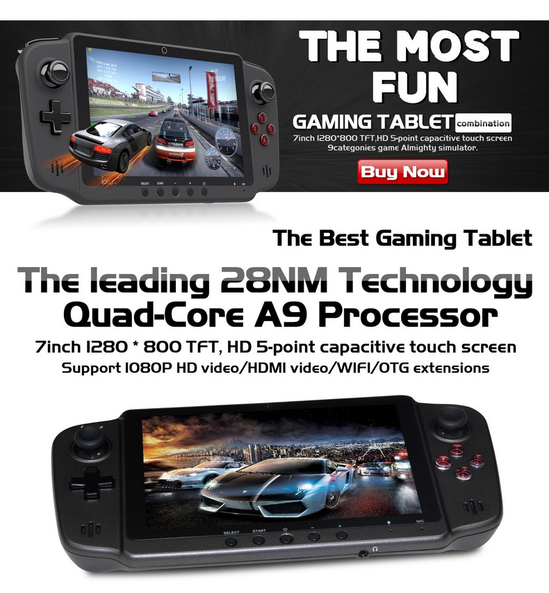 "IPEGA PG-9700 2014 7"" 3G wifi 8GB android 4.2 3D game controller for tablet pc free games"
