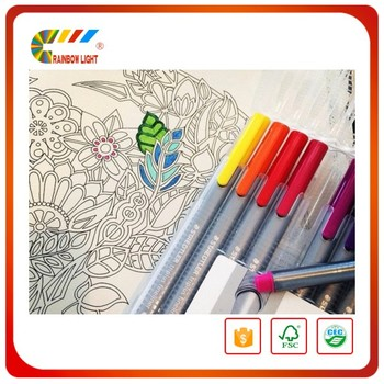 Wholesale Custom Printed Secret Garden Adult Coloring Book With Pencils