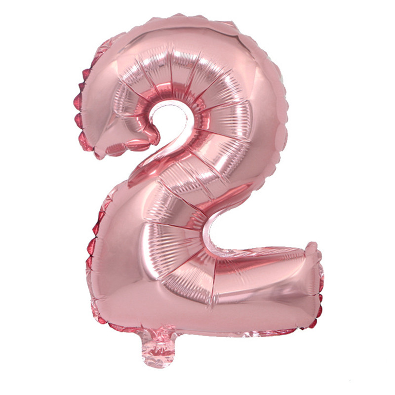 New Arrival 32 inch Rose Gold Number Inflatable Balloons Birthday Party Decoration Digit 0 1 2 3 4 5 6 7 8 9 Air Ballons