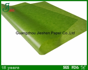 2017 FSC approval good quality green coloured wax paper