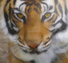 Handmade Tiger Head Oil Painting for wall decoration