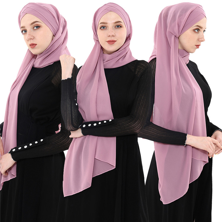 New Fashionable Scarf Plain Chiffon Scarf Women Hijab