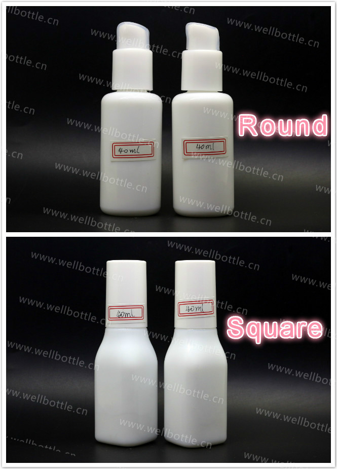 15G 20G 30G 50G 100G 40ML 100ML 120ML 150ML White Porcelain Glass Bottle with White Pump/Cap for Cosmetics lotions WP-888R