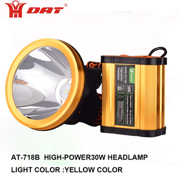 High power led Headlamp 30w Led Fishing Lamp with USB function