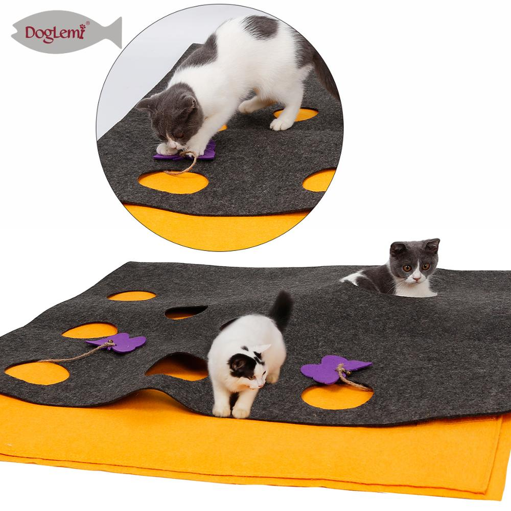 Doglemi Natural Feltro Cat Play Toy Set Mat Borboleta Brinquedo Do Gato