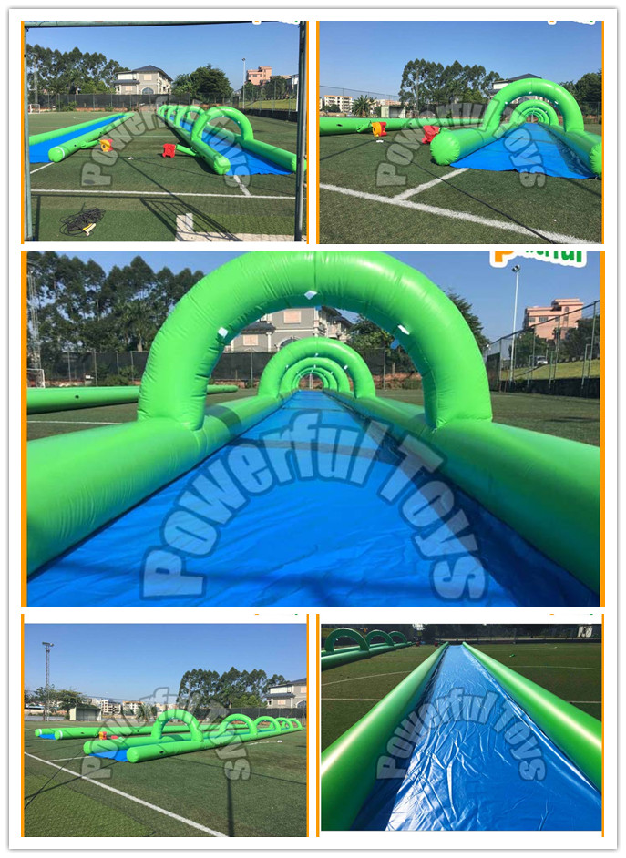 Crazy and popular custom giant inflatable water slip n slide for adult