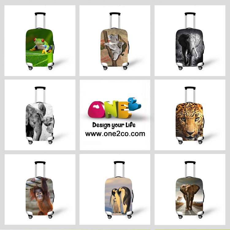 ONE2 Design fashion logo luggage suitcase covers for airplane cabin case