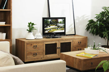 Mobiletto Porta Tv Angolare.Soggiorno Industriale Naturale Mobile Porta Tv In Legno Recuperato